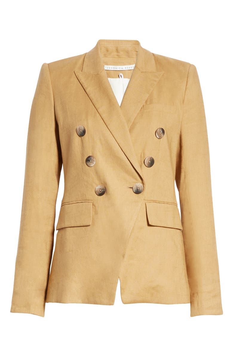 VERONICA BEARD Lonny Linen Blend Dickey Jacket, Main, color, CAMEL
