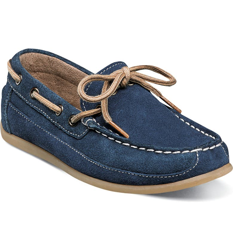 FLORSHEIM Jasper Boat Shoe, Main, color, NAVY