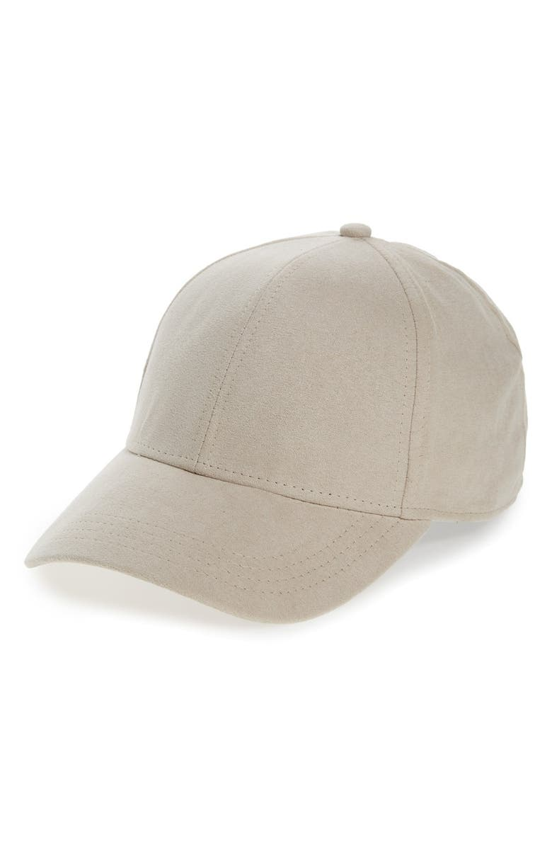 2472c1886 Faux Suede Baseball Cap