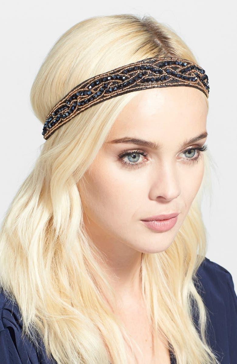 TASHA Sparkling Braid Head Wrap, Main, color, 400