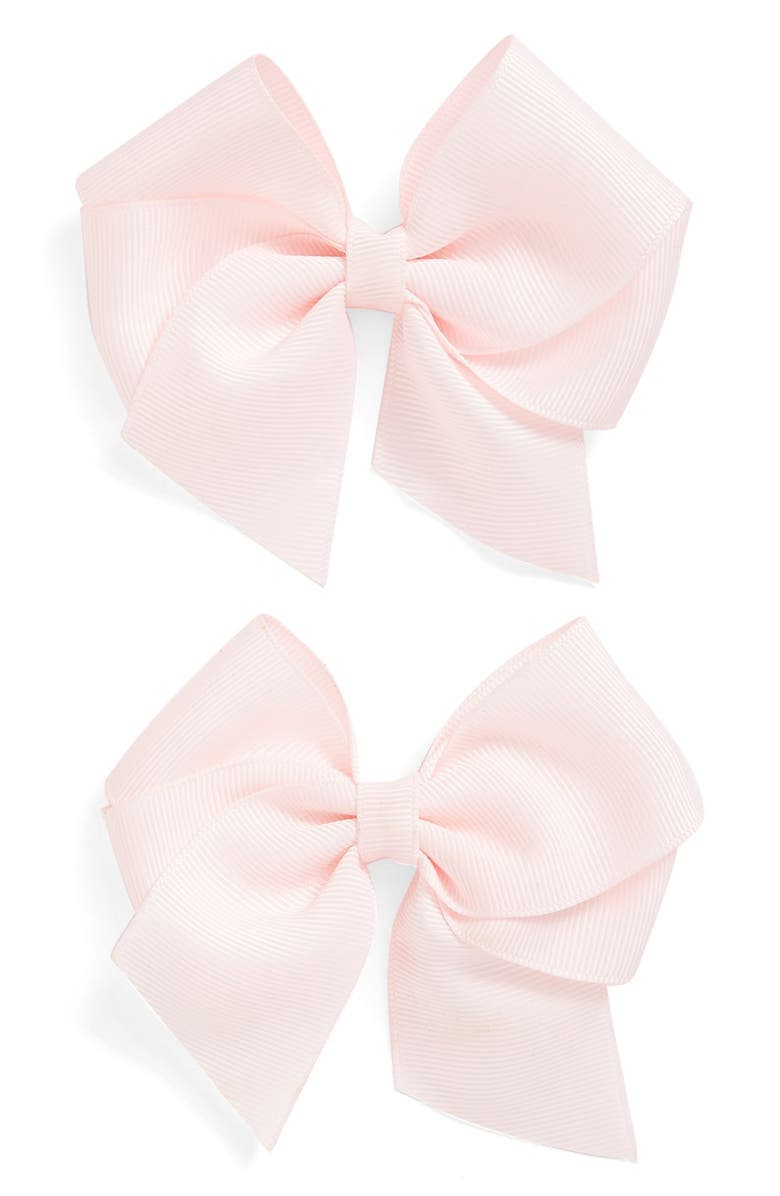 PLH BOWS Bow Clips, Main, color, PINK