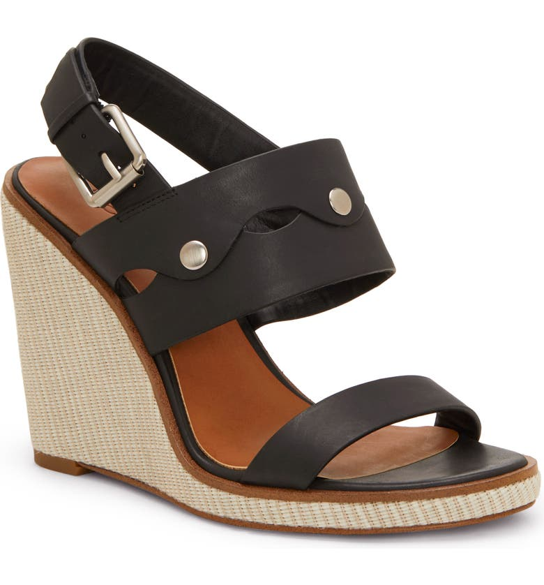 1.STATE Gizela Wedge, Main, color, BLACK LEATHER