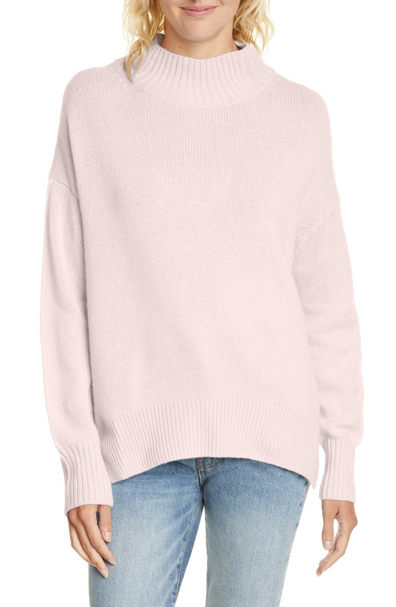 ALLUDE Mock Neck Cashmere Sweater, Main, color, 020