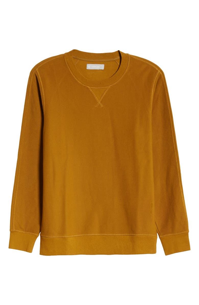 EVERLANE The Twill Rib Sweatshirt, Main, color, BRASS