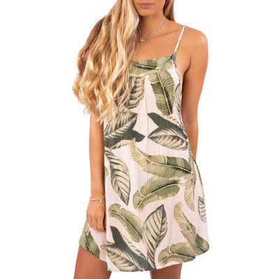 Rip Curl Coco Beach Cover-Up Dress, Pink