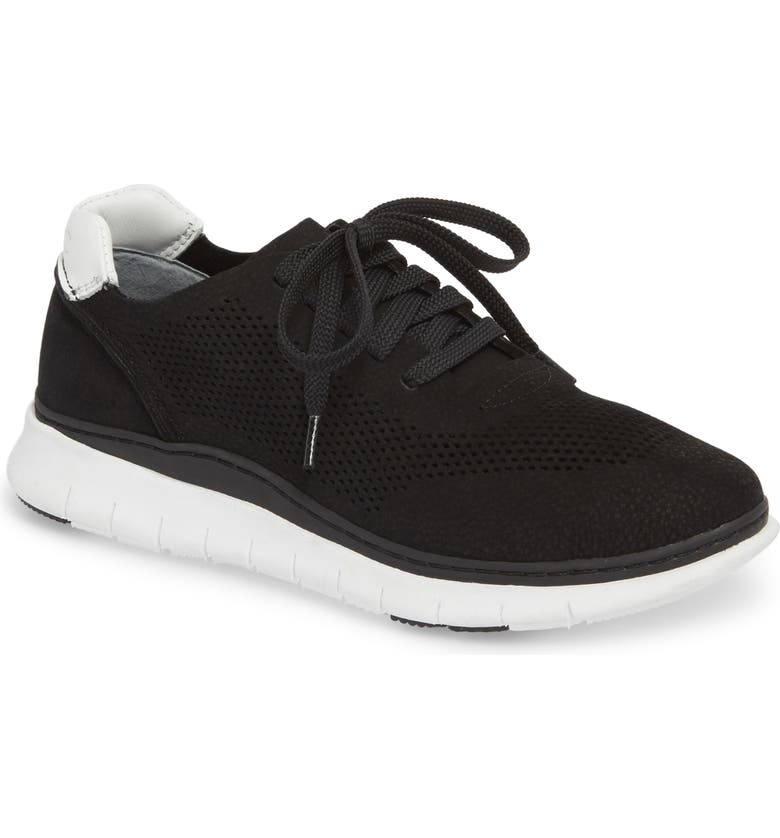VIONIC Joey Sneaker, Main, color, BLACK NUBUCK LEATHER