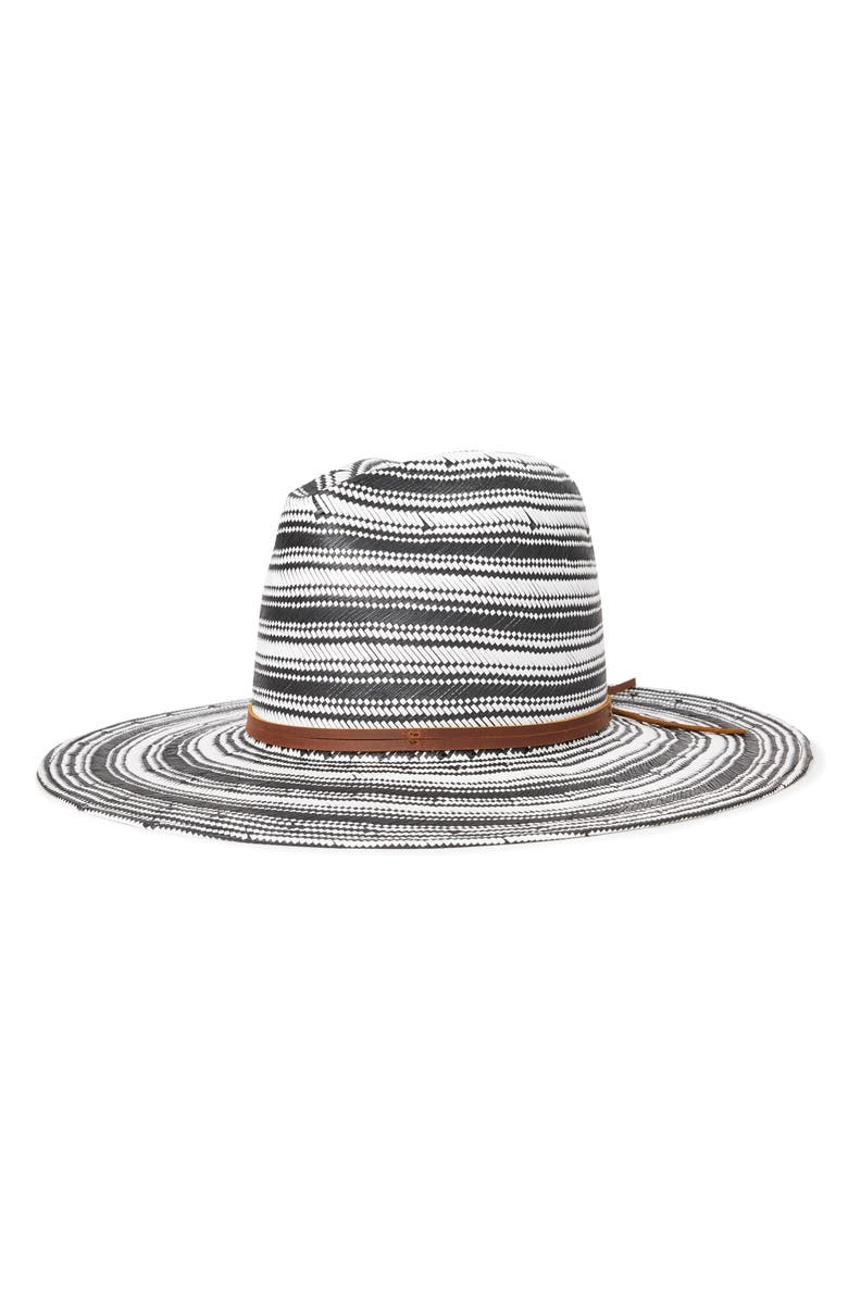 BRIXTON Farewell Straw Fedora, Main, color, 001
