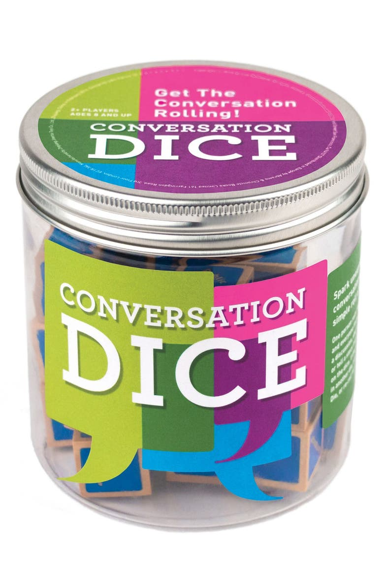 CHRONICLE BOOKS Conversation Dice, Main, color, 300