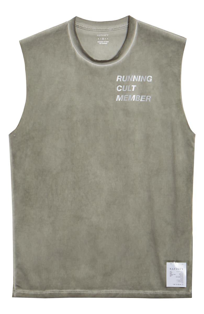 SATISFY Possessed Graphic Muscle Tank, Main, color, OLIVE PIGMENT