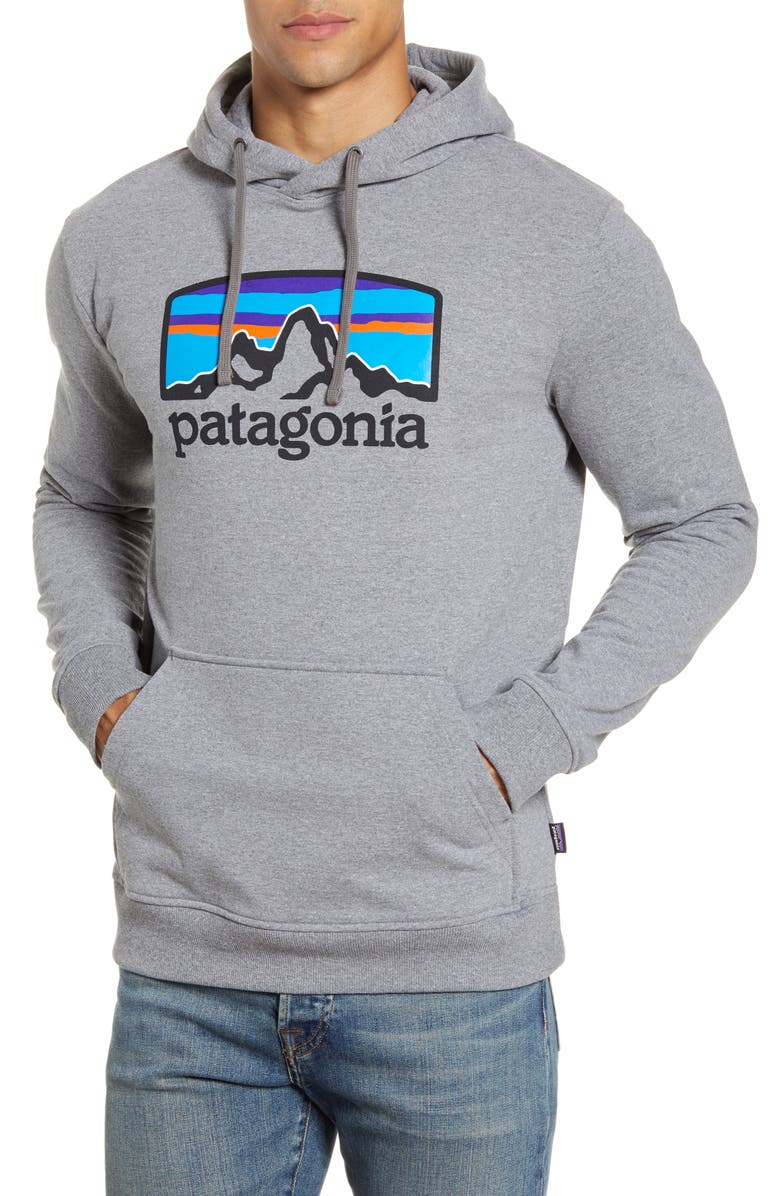PATAGONIA Fitz Roy Horizon Uprisal Hoodie, Main, color, GRAVEL HEATHER