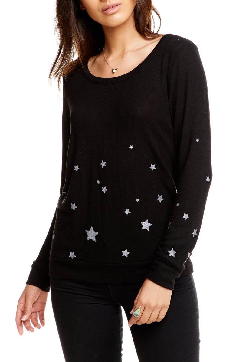 CHASER Starry Night Cozy Sweatshirt, Main, color, 001