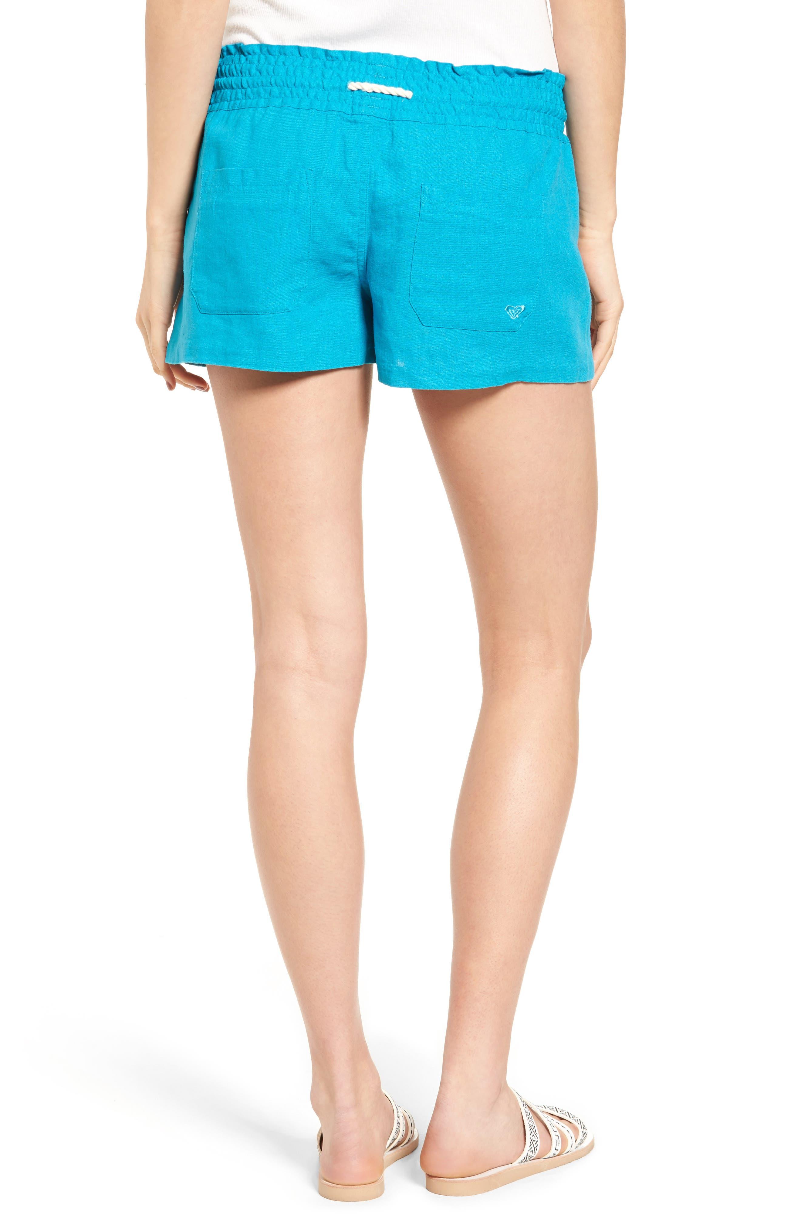 ,                             'Oceanside' Linen Blend Shorts,                             Alternate thumbnail 27, color,                             400