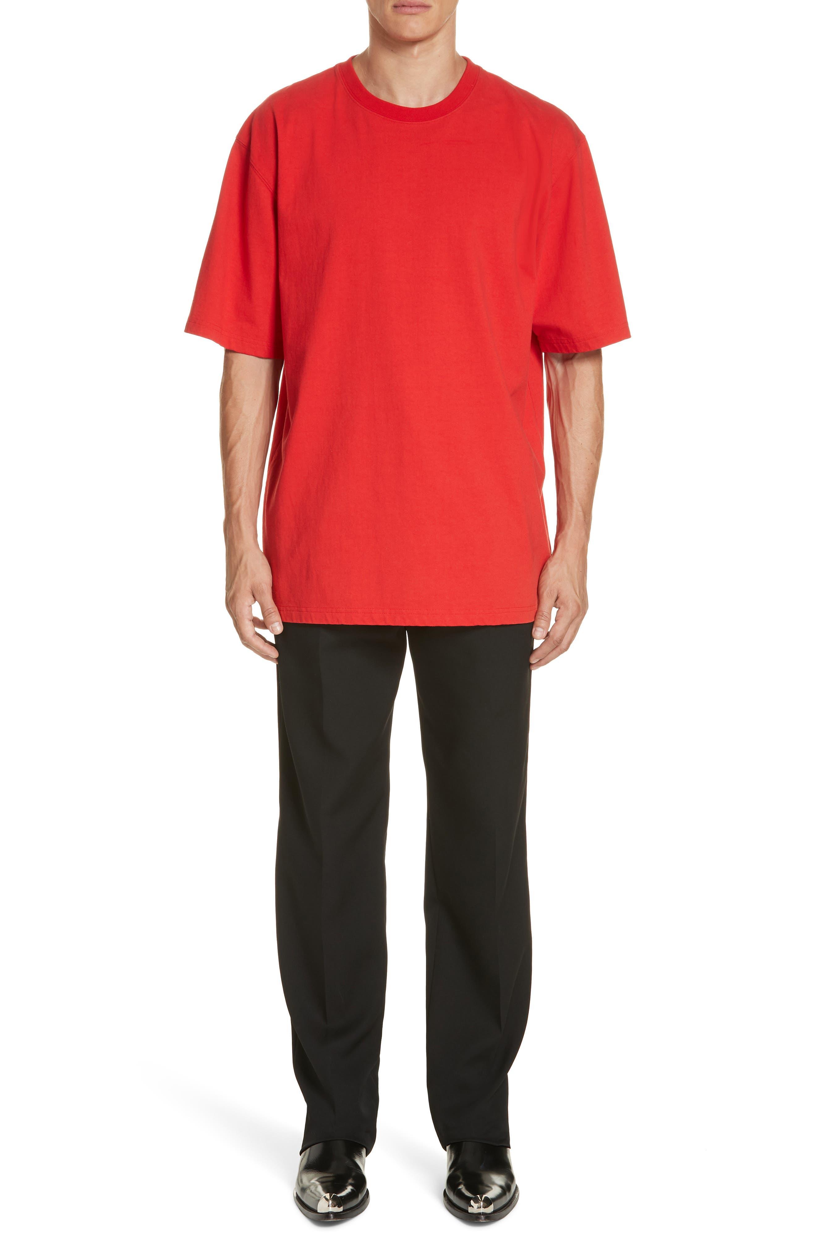 ,                             Oversize T-Shirt,                             Alternate thumbnail 7, color,                             RED