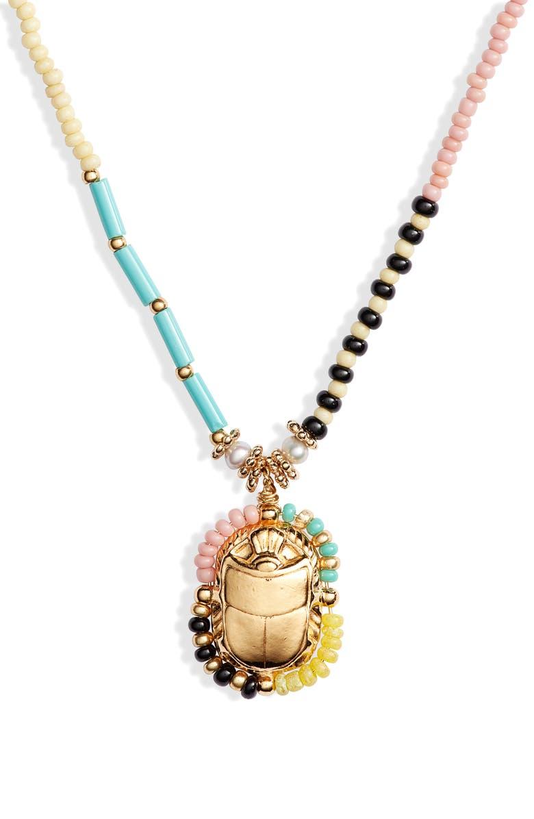 GAS BIJOUX Cielo Scaramouche Pendant Necklace, Main, color, 440