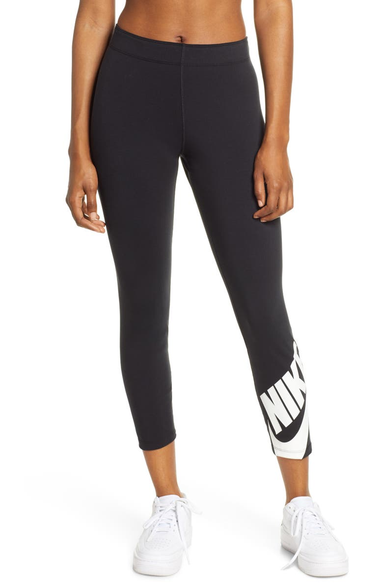 NIKE Sportswear Futura Legasee Leggings, Main, color, BLACK/ WHITE