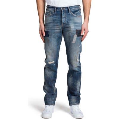 Prps Demon Ripped Slim Straight Leg Jeans, Blue