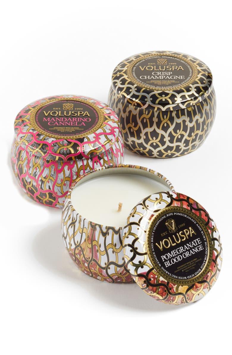 VOLUSPA Maison Noir Mini Tin Candle Set, Main, color, 000