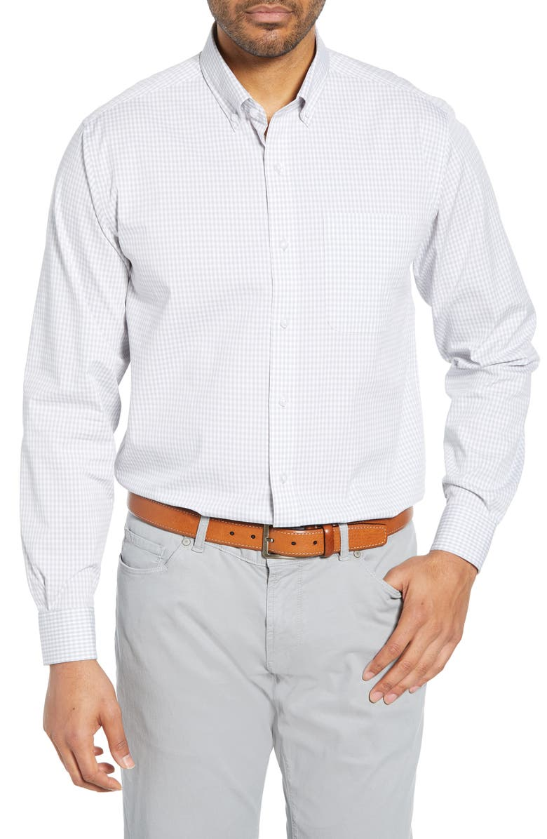 CUTTER & BUCK Anchor Classic Fit Gingham Shirt, Main, color, ICED
