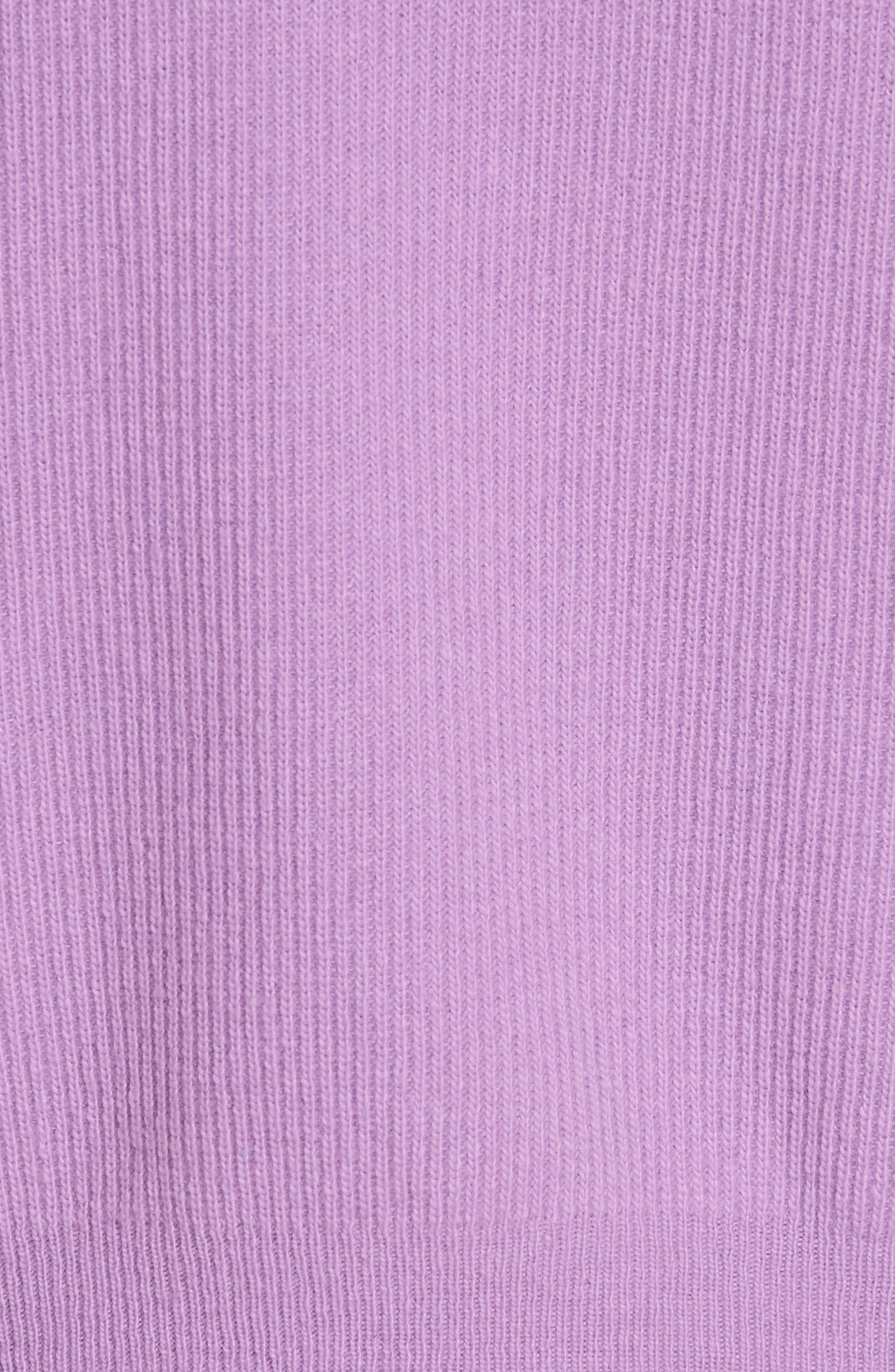 ,                             Merino Wool & Cashmere Blend Crop Hoodie,                             Alternate thumbnail 5, color,                             LAVENDER