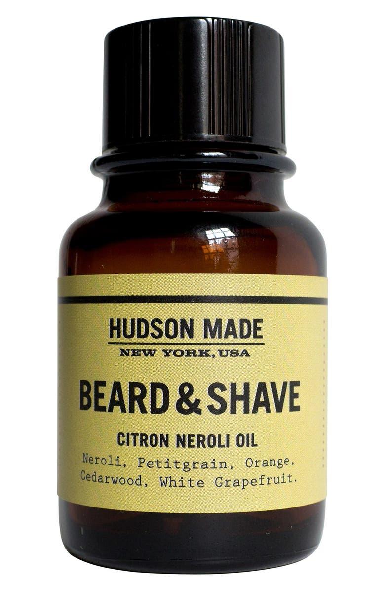 HUDSON MADE Beard & Shave Oil, Main, color, CITRON NEROLI