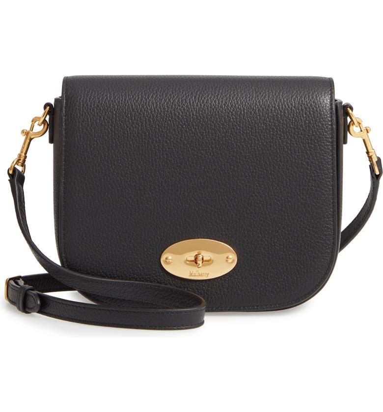 MULBERRY Small Darley Leather Crossbody Bag, Main, color, BLACK