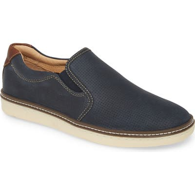 Johnston & Murphy Mcguffy Slip-On Sneaker, Blue