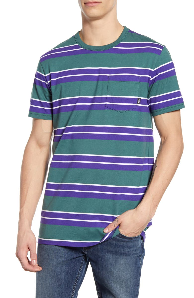 VANS Continental Stripe T-Shirt, Main, color, MALLARD/ VANS PURPLE