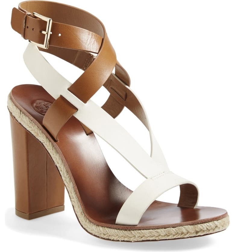 TORY BURCH 'Marbella' Ankle Strap Leather Sandal, Main, color, 900