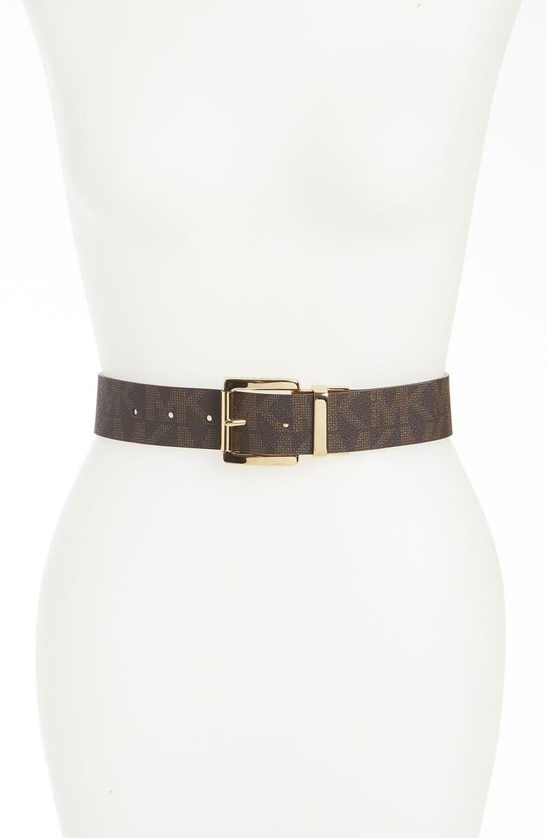 MICHAEL MICHAEL KORS Reversible Belt, Main, color, 200