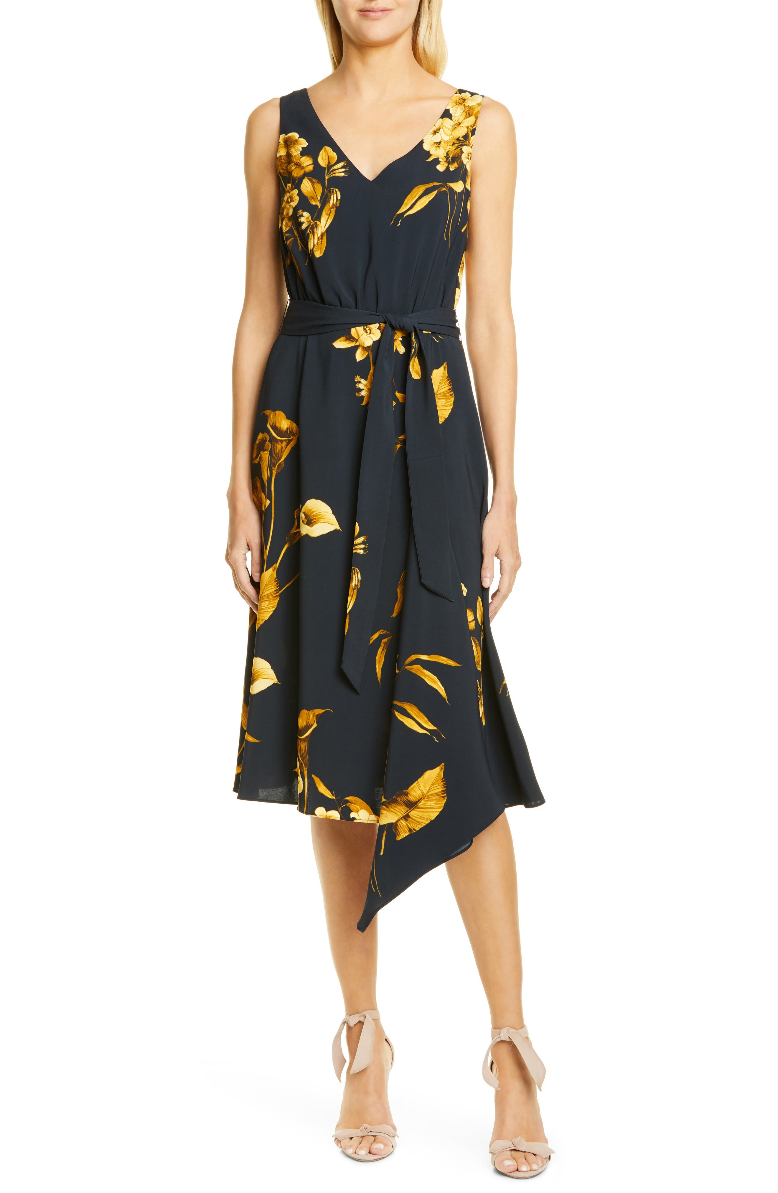 Ted Baker London Fantasia Asymmetrical Dress, Blue