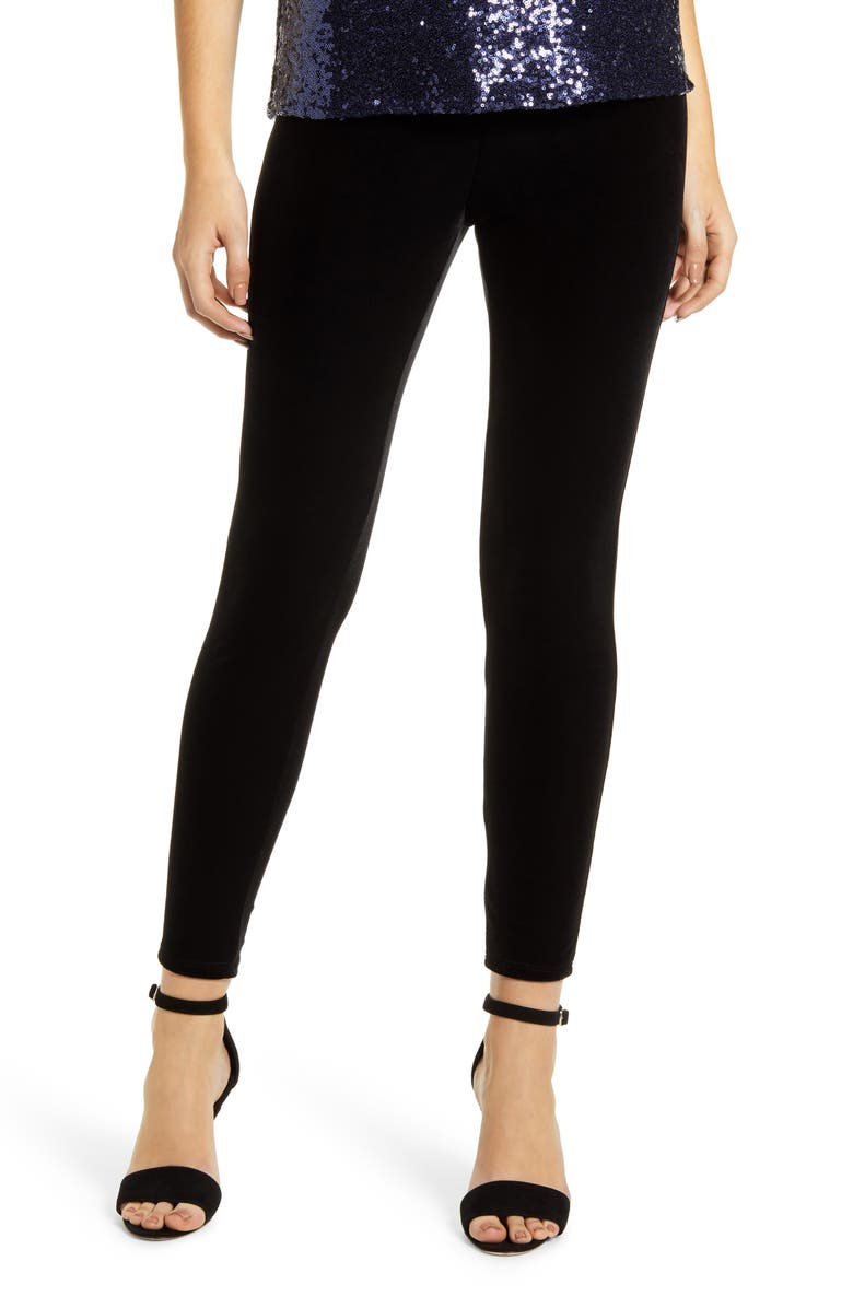 GIBSON x Glam Lovely in LA Velvet Leggings, Main, color, 001