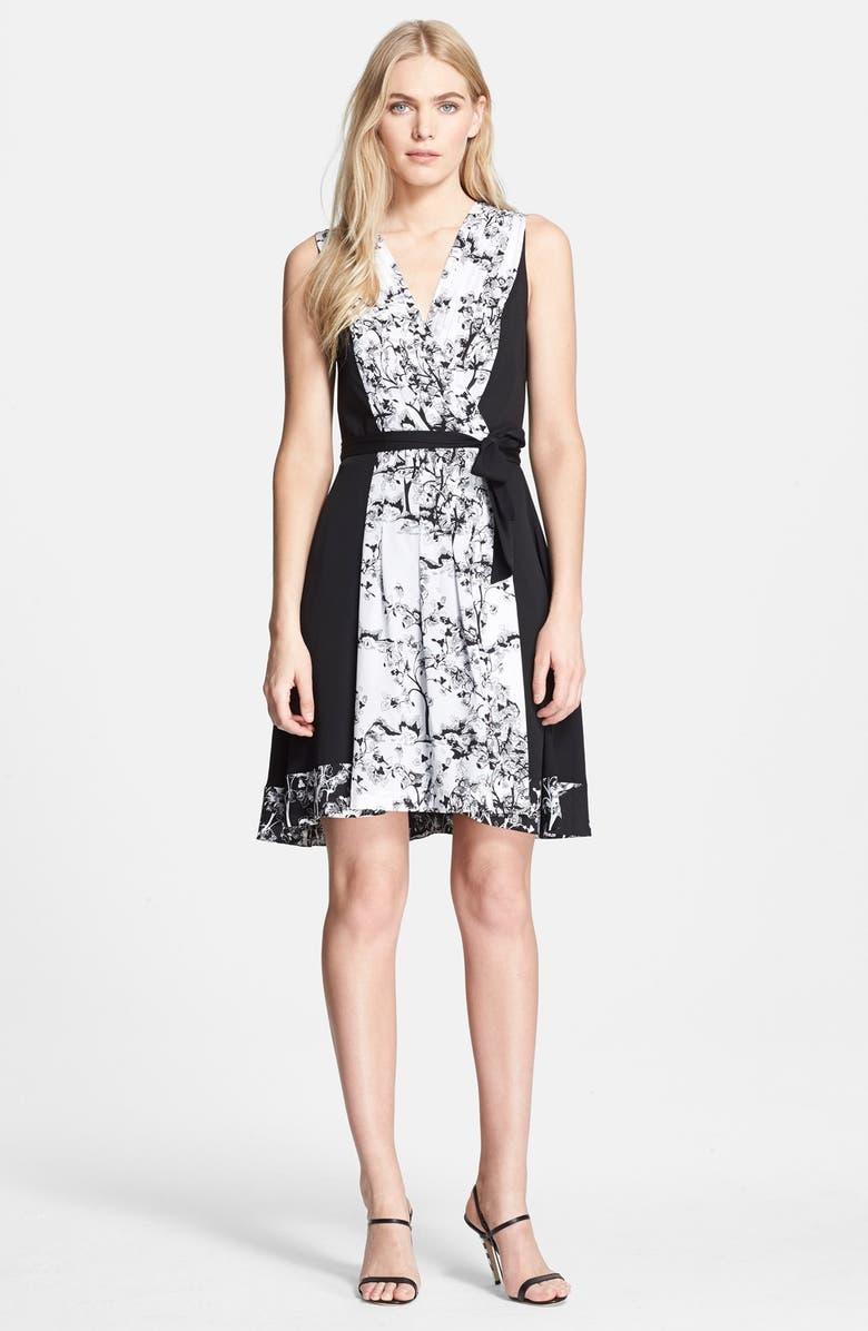 DIANE VON FURSTENBERG 'Kylie' Stretch Silk Wrap Dress, Main, color, 005