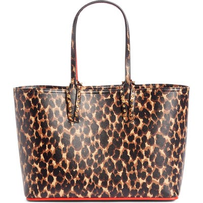 Christitan Louboutin Small Cabata Calfskin Leather Tote - Brown