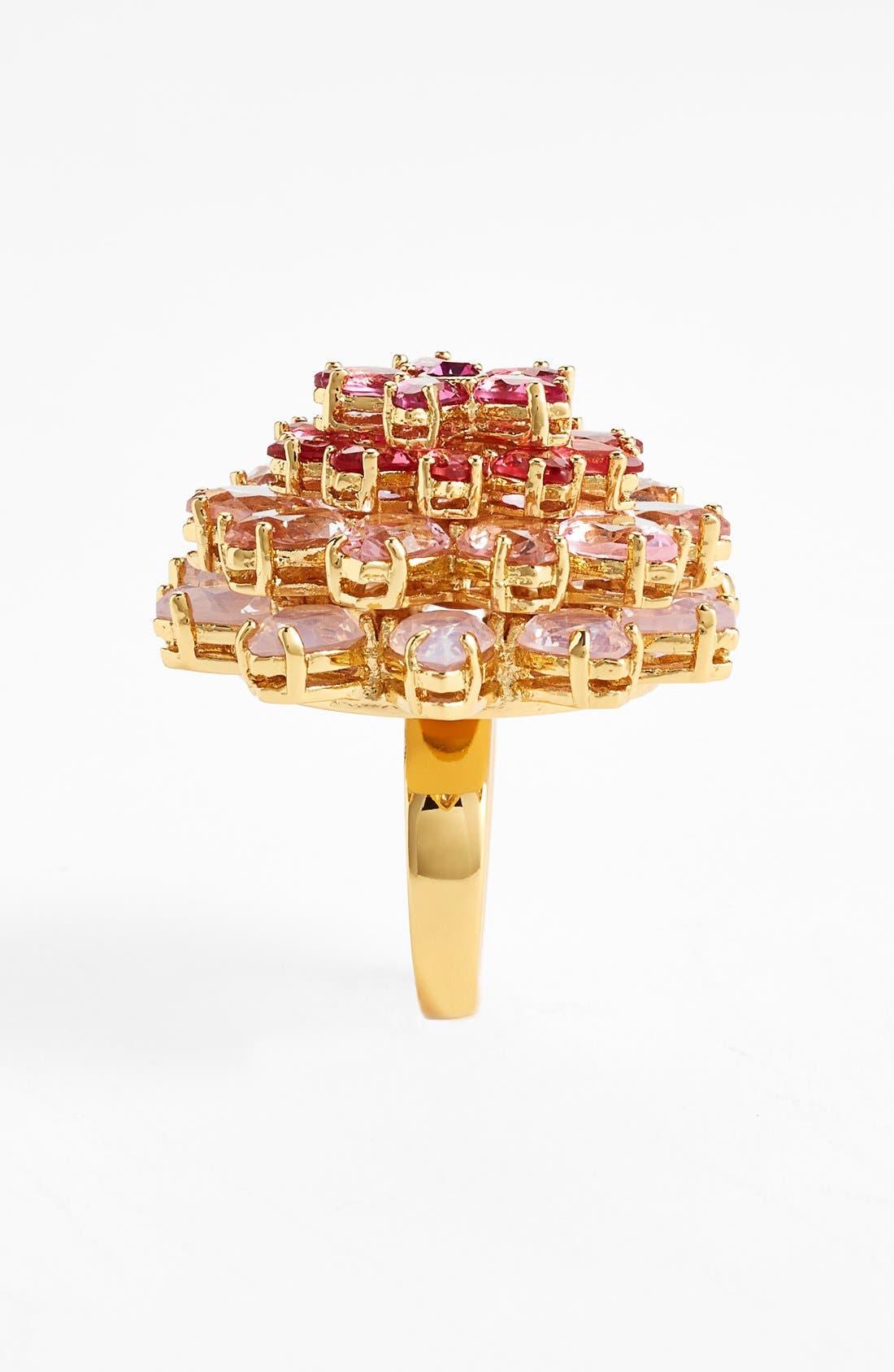 ,                             'ombré bouquet' crystal statement ring,                             Alternate thumbnail 2, color,                             650