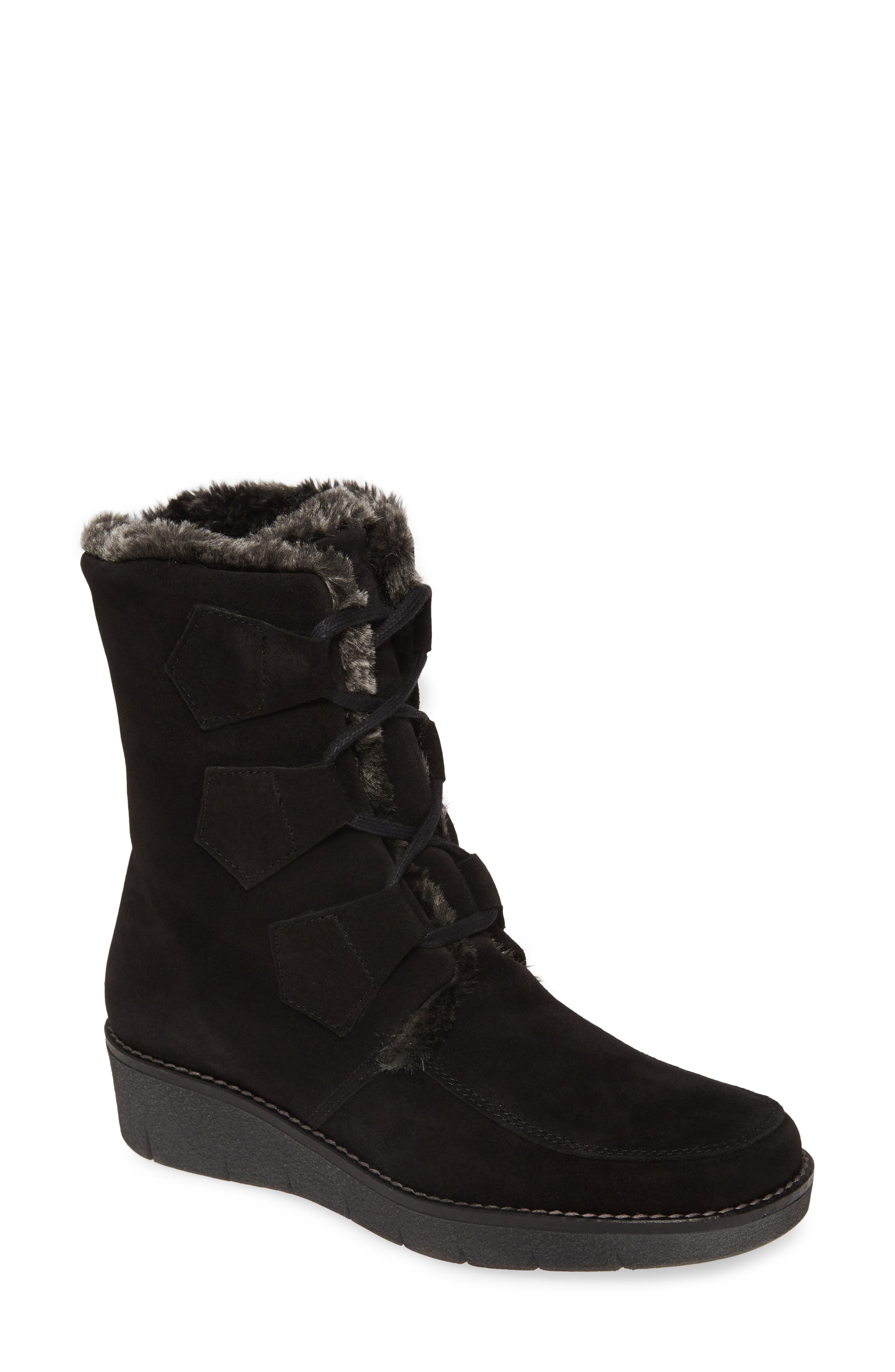 1940s Style Shoes, 40s Shoes Womens Toni Pons Ador Faux Fur Lined Bootie $143.37 AT vintagedancer.com