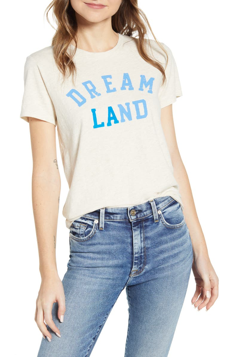 LUCKY BRAND Dream Land Graphic Tee, Main, color, OATMEAL HEATHER