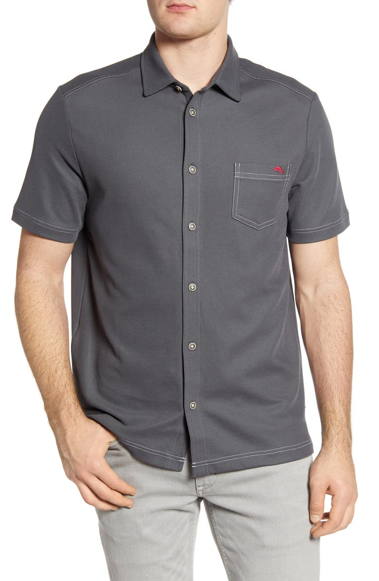 TOMMY BAHAMA Emfielder 2.0 Camp Shirt, Main, color, HIGH SEAS