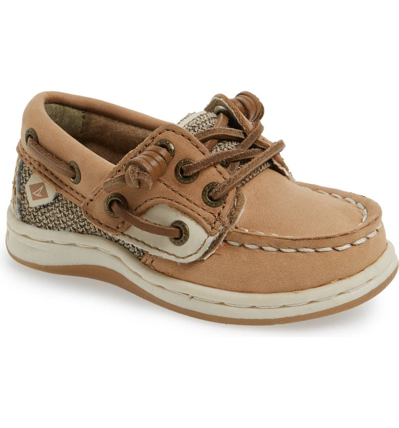 SPERRY KIDS 'Songfish' Boat Shoe, Main, color, LINEN/ OAT LEATHER