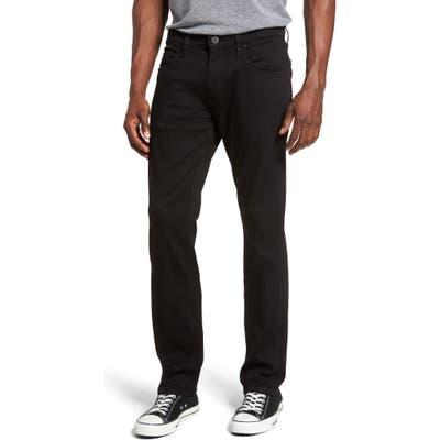 Paige Federal Slim Straight Leg Jeans, Black