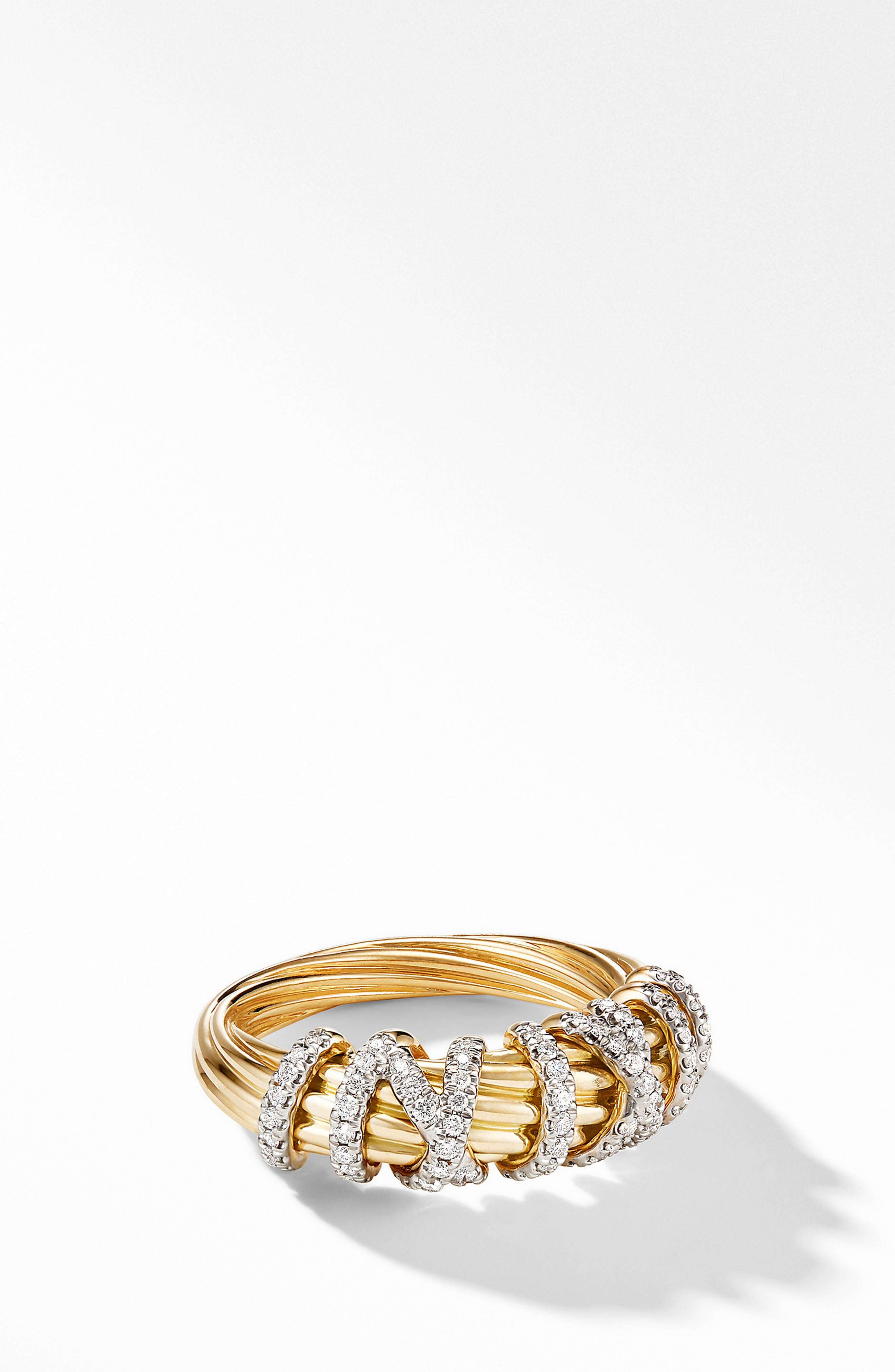 ,                             Helena Small 18K Yellow Gold Ring with Diamonds,                             Alternate thumbnail 2, color,                             GOLD/ DIAMOND