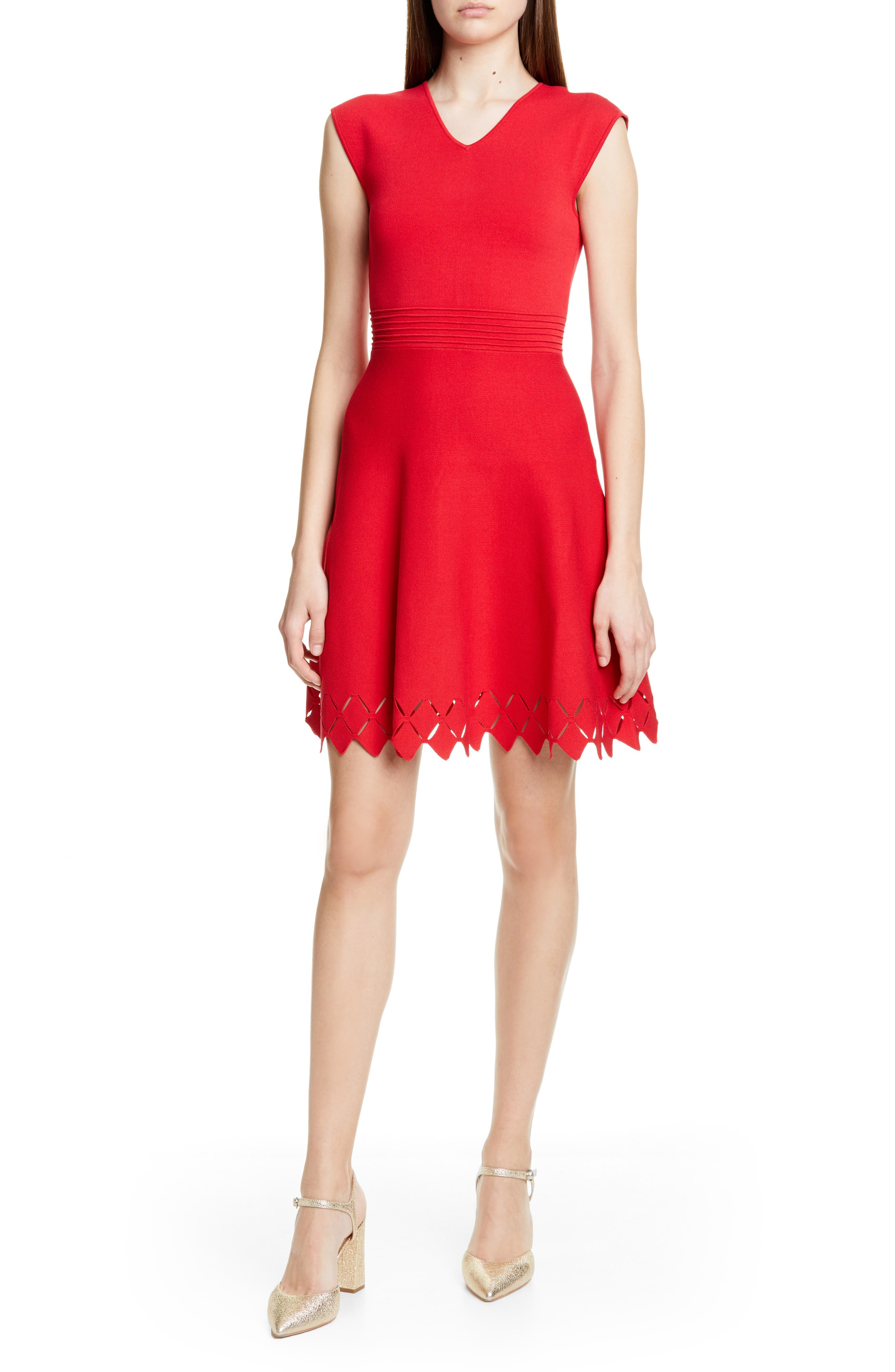 Ted Baker London Tannia Skater Dress, Red