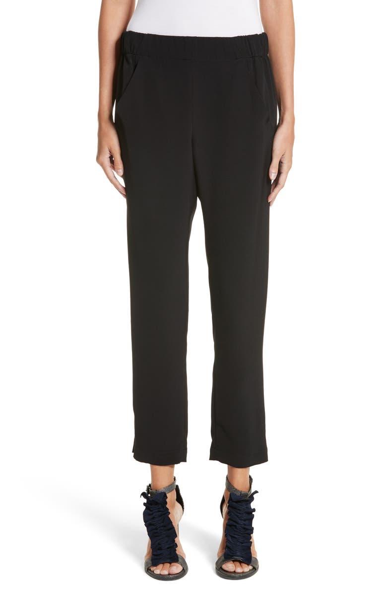ZERO + MARIA CORNEJO Elli Slim Leg Pants, Main, color, BLACK