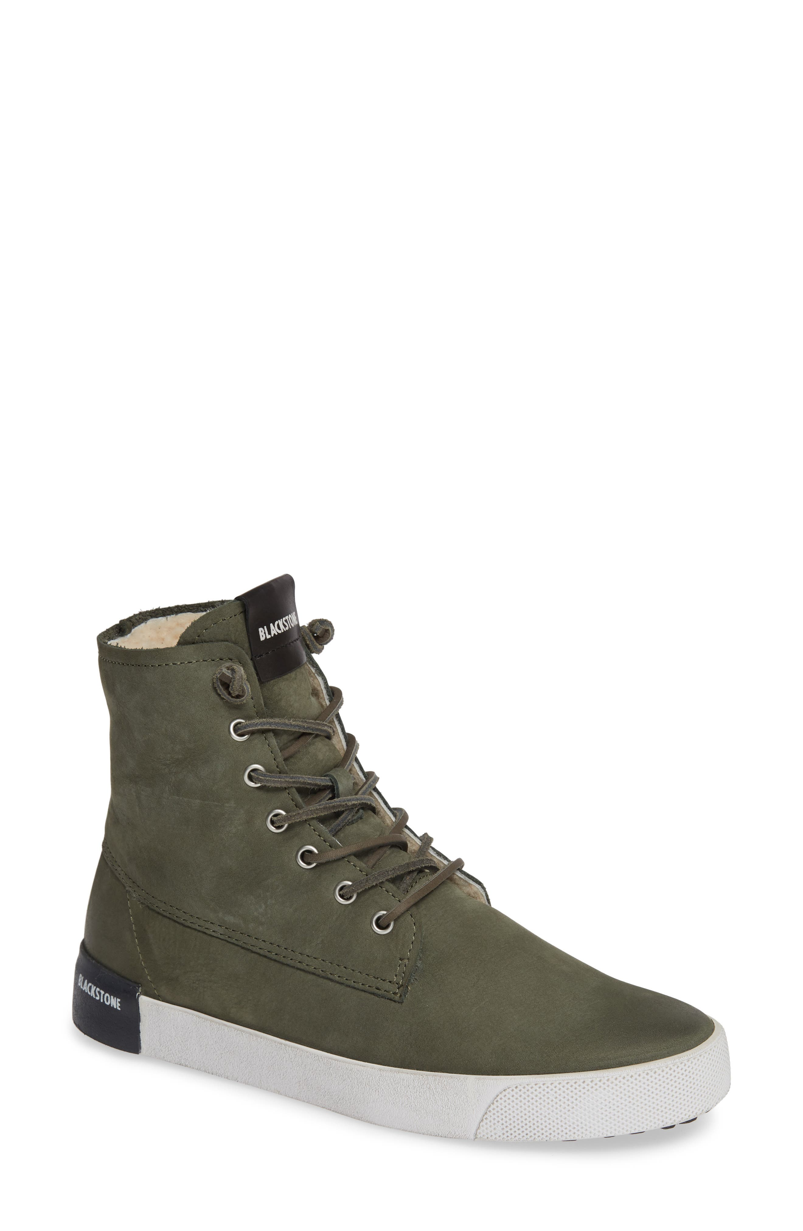 Ql41 High Top Sneaker With Genuine Shearling Lining