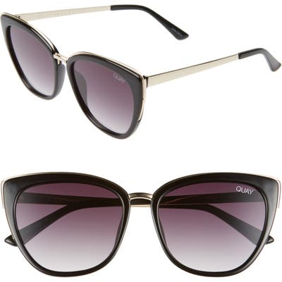 Quay Australia Honey 55Mm Cat Eye Sunglasses - Gold/ Black/ Smoke