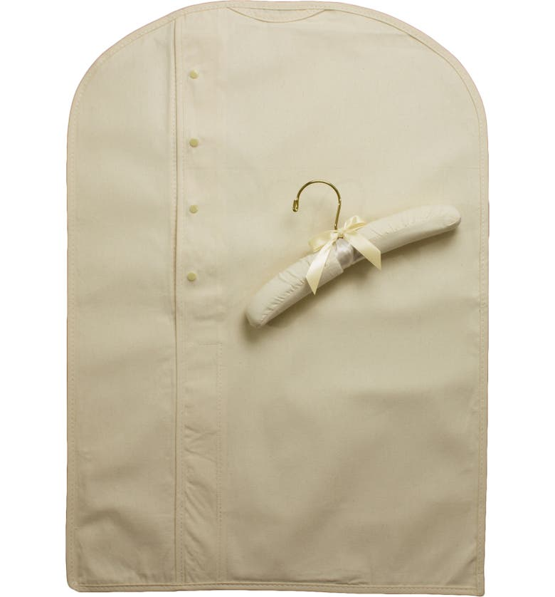 LITTLE THINGS MEAN A LOT Heirloom Preservation Garment Bag, Main, color, IVORY
