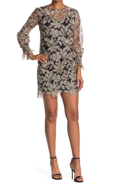 Image of Trina Turk Vinology Embroidered Floral Shift Dress