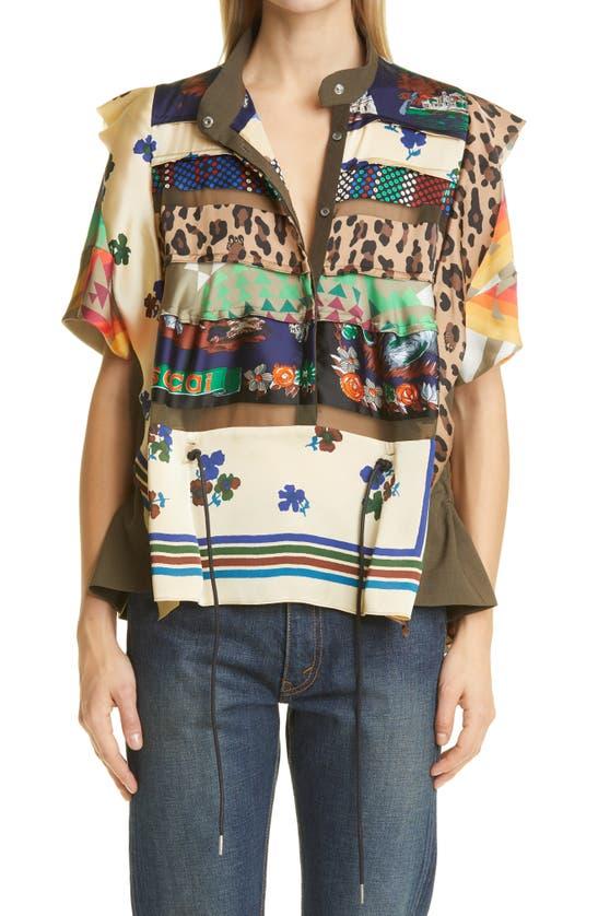 SACAI Shirts HANK WILLIS THOMAS ARCHIVE PATCHWORK SHIRT