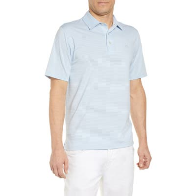 Southern Tide Tryall Regular Fit Stripe Performance Polo, Blue