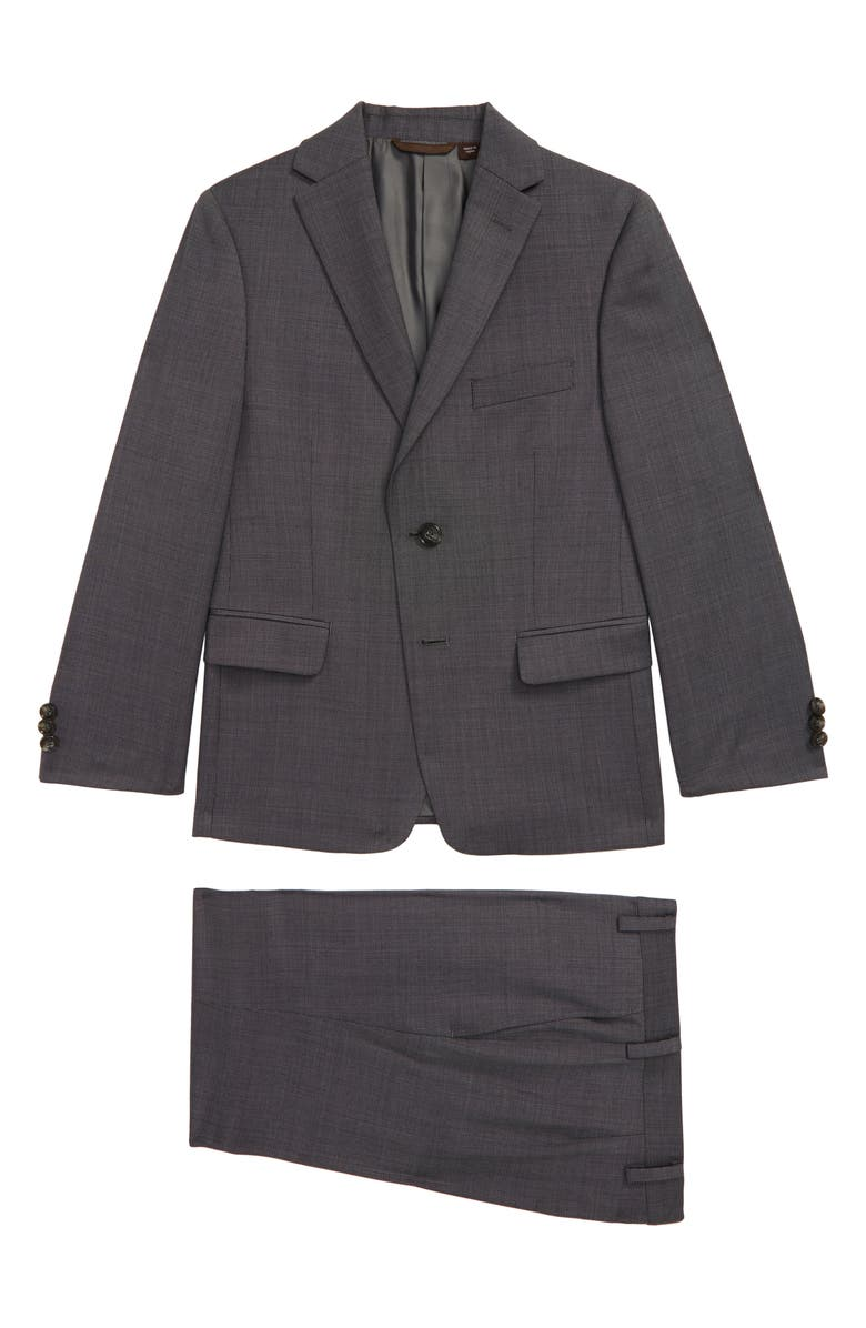 MICHAEL KORS Neat Nested Wool Blend Suit, Main, color, GREY