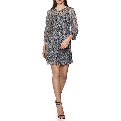 Reiss Burnout Ditsy Dress, US / 16 UK - Blue